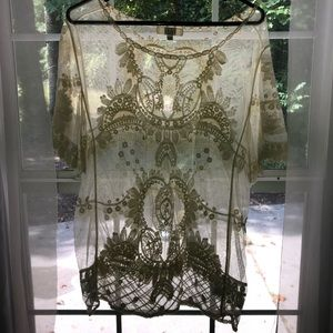 Gorgeous lace boho blouse